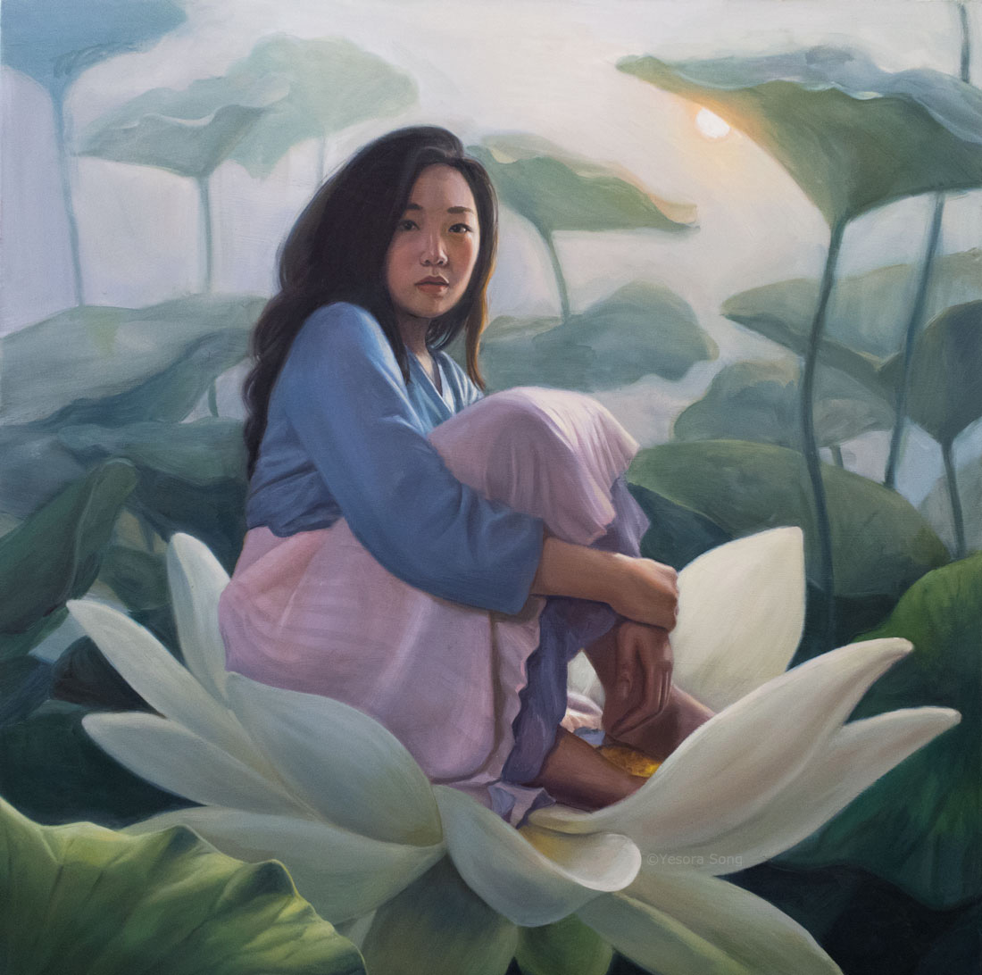 Girl on lotus